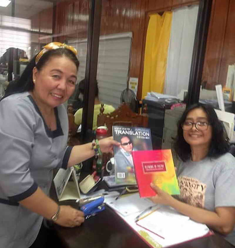 "Ms. Agnes Palaje, the executive secretary of Governor Amor Deloso of the Province of Zambales Eden S. Trinidad and ""Sophy Poetry & Translation"" E-C bilingual international poetry magazine."